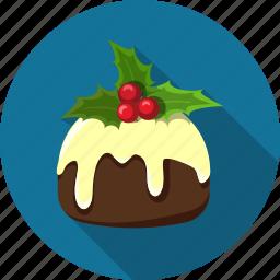 cake, chocolate, christmas, dessert, food, glaze, homemade icon