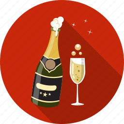 champagne, cup, drink, glass, new, star icon