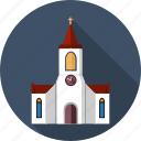 abbey, building, catholic, christian, church, cross, sanctuary icon