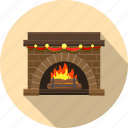 chimney, fireplace, hearth, home, wood icon