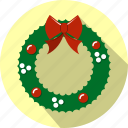 celebration, christmas, decoration, garland, holiday, wreath icon
