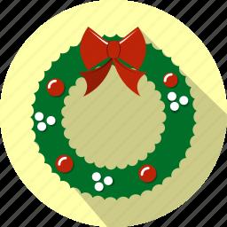 celebration, christmas, decoration, garland, holiday, wreath icon