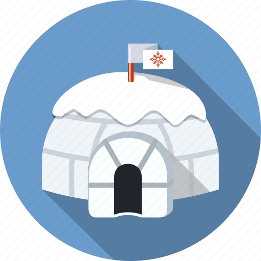 arctic, bricks, building, eskimos, frost, house, igloo icon