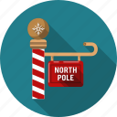 christmas, direction, guide, indicatory, north, pole, xmas