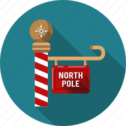 christmas, direction, guide, indicatory, north, pole, xmas icon