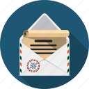 christmas, correspondence, email, envelope, letter, message, postal icon