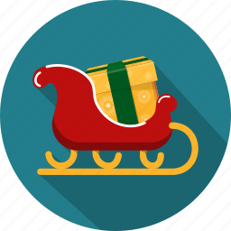 celebrations, christmas, decoration, gifts, holidays, sleigh, winter icon