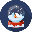 christmas, decoration, landscape, season, snowglobe, winter, xmas icon