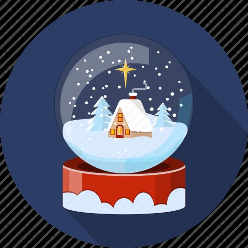 christmas, decoration, landscape, season, snowglobe, winter, xmas icon