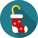 bow, christmas, december, gift, greeting, stock, stocking icon