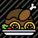 christmas, food, roasted chicken, dinner, turkey