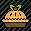 christmas, food, apple pie, tart, xmas icon