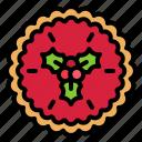 christmas, food, raspberry pie, strawberry pie, xmas, tart icon