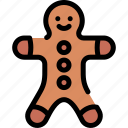 cake, christmas, ginger, gingerbread icon