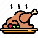 chicken, dinner, roasted, turkey icon