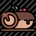 cake, cinnamon, food, roll icon