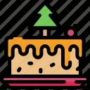 cake, christmas, sweets, yummy icon