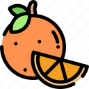fresh, fruit, healthy, orange icon