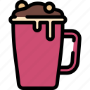 christmas, cocoa, drink, hot icon