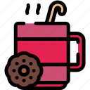 biscuit, christmas, drink, hot icon