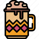 christmas, cocoa, drinks, hot icon