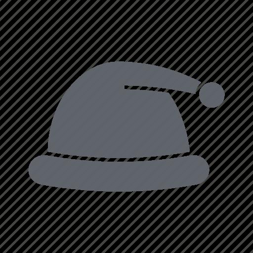 cap, christmas, fashion, man, santa hat, snow, winter hat icon