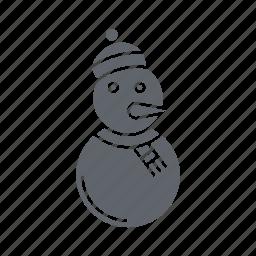 christmas, decoration, holiday, snow man, snowman, vacation, winter icon