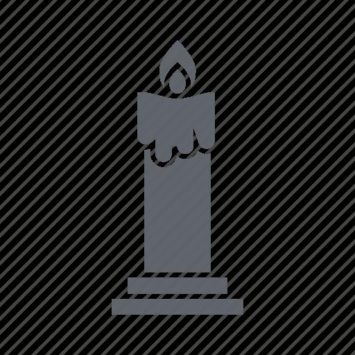 candle, celebration, decoration, fire, flame, ornament icon