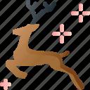 animal, christmas, decoration, deer, reindeer, xmas icon