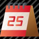 calendar, christmas, date, event, holiday, xmas icon