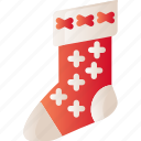 christmas, decoration, holiday, sock, xmas