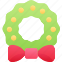 christmas, december, holidays, holly, reef, tradition icon