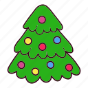 christmas, decoration, ornament, pine, tree icon