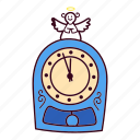 angel, christmas, clock, midnight icon