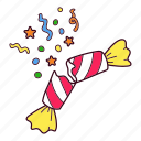 blast, candy, christmas, confetti, cracker, firework icon