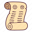 christmas, list, naughty, nice, santa claus icon
