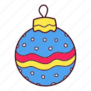 christmas, ornament, winter icon