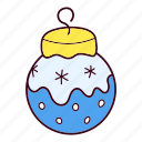 christmas, ornament, snow icon