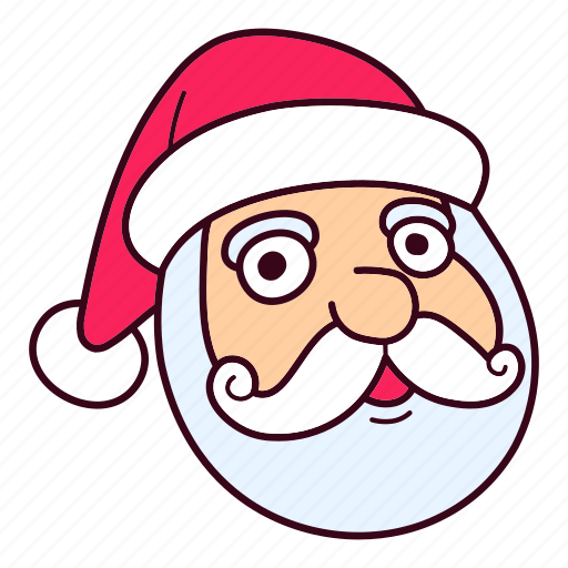 Christmas, claus, face, hat, santa icon - Download on Iconfinder