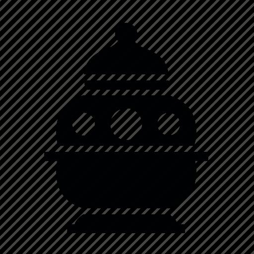 christmas, history, vase icon