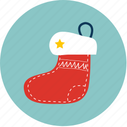 easter, new year, santacros, snow, sock, winter, x'mas icon