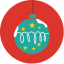 ball, bell, chrismas, circle, santacros, snow icon
