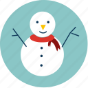 easter, man, snow, snow man, snowman, winter, x'mas icon