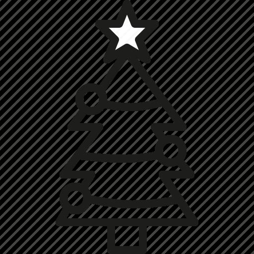 ball, christmas, decoration, garnish, pine, tree icon