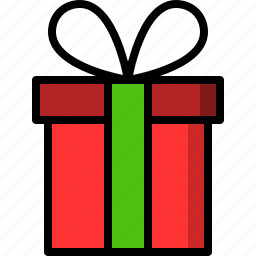christmas, gift, package, present icon
