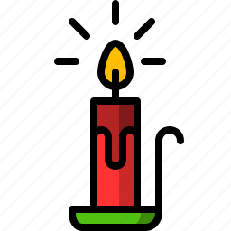 candle, christmas, fire, light icon