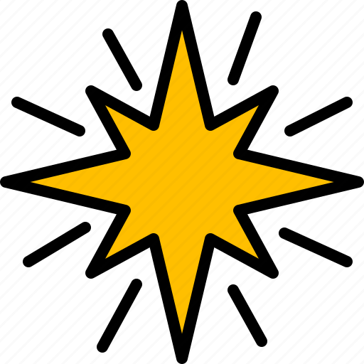 christmas, shine, shinning, star icon
