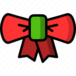 christmas, lace, tie icon