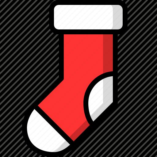 christmas, sock, socks icon