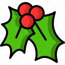 christmas, kiss, mistletoe icon